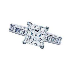 1.76 carat diamonds princess cut engagement ring g